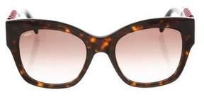 Tod's Tortoiseshell Gradient Sunglasses