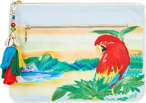 Camilla Rio canvas clutch