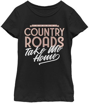 Fifth Sun Black 'Country Roads' Tee - Girls