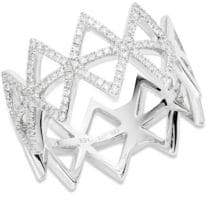 Ef Collection Multi Triangle Diamond Stack Ring