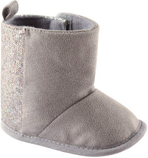 Luvable Friends Gray Sparkle Booties - Girls