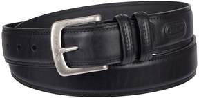 Columbia Double Loop-Stitched Leather Belt