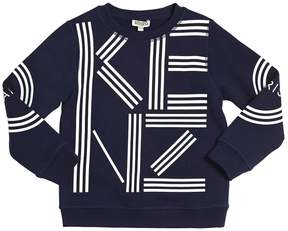 Kenzo Rubberized Printed Cotton Sweatshirt
