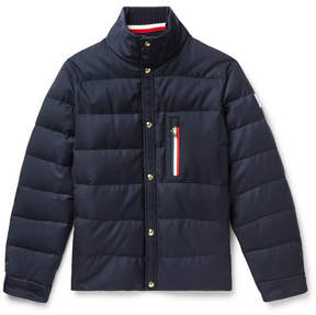Moncler Gamme Bleu Wool-Canvas Quilted Down Jacket