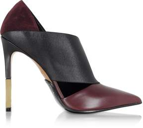 Balmain Audrey Burgundy Leather Pump