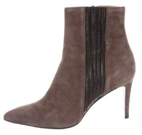 Barbara Bui Suede Pointed-Toe Ankle Boots