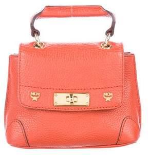 MCM Mini Leather Crossbody Satchel Bag