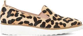 Dune Guise leopard print flatform loafers