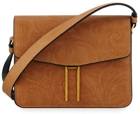 Hayward Tooled Leather Mini Crossbody Bag, Tan