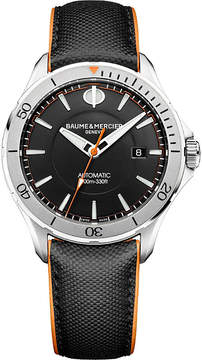 Baume & Mercier M0A10338 Clifton Club stainless steel and leather watch