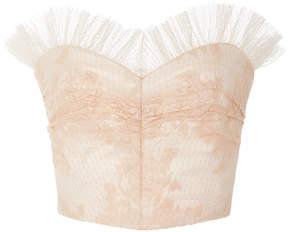 Rodarte Ruffled Lace Bustier Top