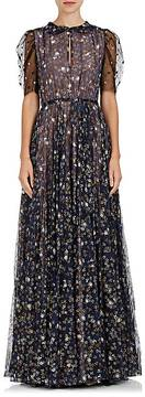 Valentino Women's Embellished Silk Short-Sleeve Gown