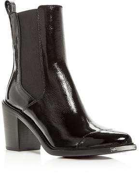 Belstaff Women's Aviland Patent Leather Block Heel Booties