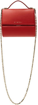 Givenchy Red Mini Pandora Box Chain Bag