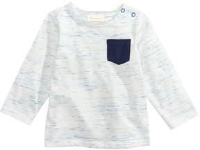 First Impressions Space-Dye Pocket Cotton T-Shirt, Baby Boys, Created for Macy's