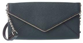 Rebecca Minkoff Cleo Leather Chain Wallet. - GREEN - STYLE