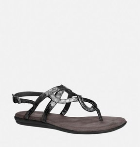 Avenue Jacey Swirl Metallic Thong Sandal