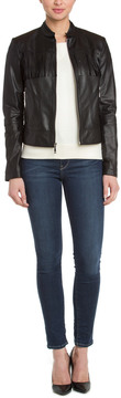 Dawn Levy 2 Cheri Metallic Fringe Leather Jacket