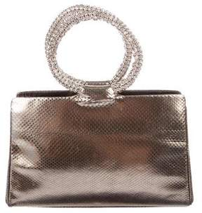 Judith Leiber Lizard Handle Bag