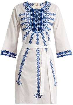 Figue Sophie embroidered cotton-voile dress