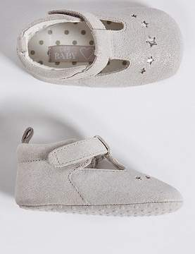 Marks and Spencer Baby Suede Riptape Pram Shoes