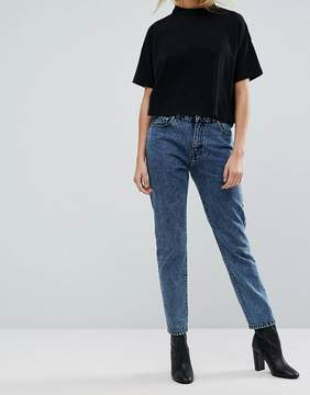 Dr. Denim High Rise Straight Leg Jean in Acidwash