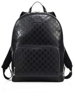 Gucci Signature Embossed Leather Backpack