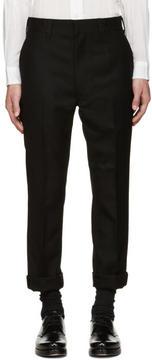Junya Watanabe Black Wool Slim Trousers