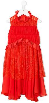 Elisabetta Franchi La Mia Bambina lace panel dress