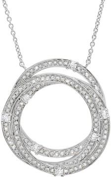 Crislu CZ Pave Intertwined Rings Pendant Necklace