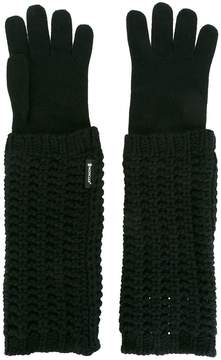Moncler knitted long gloves