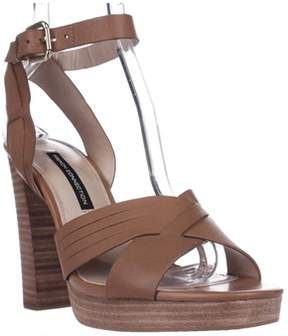 French Connection Gilda Ankle Strap Dress Sandal, Safari Sand.