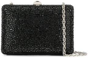 Rodo crystal embellished box clutch