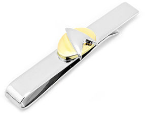 Asstd National Brand Star Trek Two-Tone Delta Shield Tie Bar