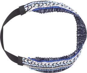 Scunci Headbands of Hope Multi Blue Colored Ribbon Textured Headwrap
