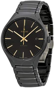 Rado True Black Dial Black Ceramic Men's Watch