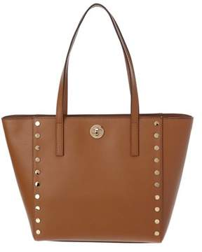 MICHAEL Michael Kors Rivington Leather Stud Tote. - BROWN - STYLE