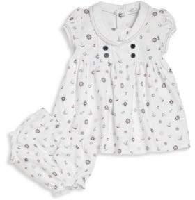 Kissy Kissy Baby's Nautical Mile Print Dress & Bloomers Set