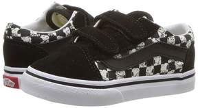 Vans Kids Old Skool V x Peanuts Snoopy/Checkerboard) Kid's Shoes
