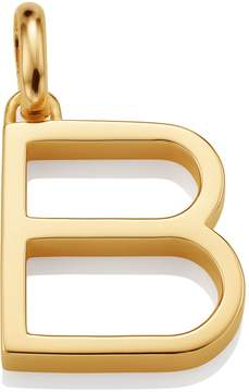 Monica Vinader Gold Capital B Pendant
