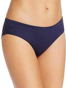 Echo Solid Ruched Bikini Bottom
