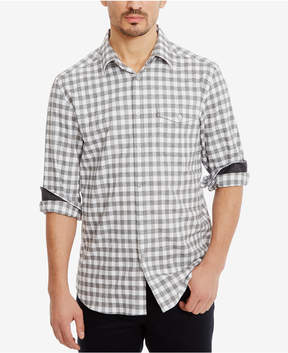 Kenneth Cole New York Men's Check-Pattern Cotton Shirt
