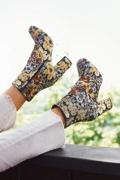 Urban Outfitters Emma Floral Jacquard Ankle Boot