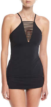 Seafolly Active High-Neck Solid Tankini Swim Top