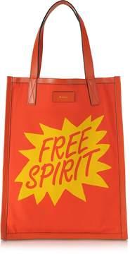 Paul Smith Men's Orange and Yellow Free Spirit Print Tote Bag
