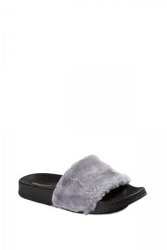 UNIONBAY Fuzzy Faux Slide Sandal