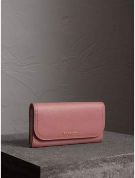 Burberry Grainy Leather Slim Continental Wallet
