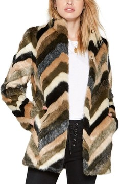 Amuse Society Women's Waylon Faux Fur Jacket