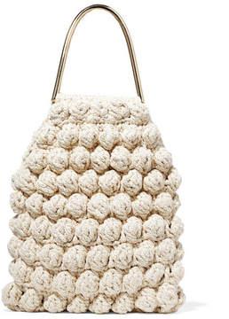 Ulla Johnson Barranco Crocheted Cotton And Lurex-blend Tote - Cream
