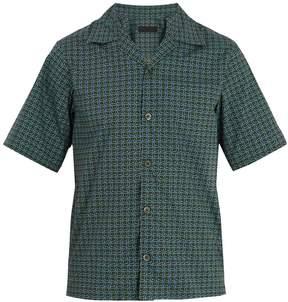 Prada Geometric-print cotton bowling shirt